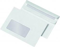 Briefumschläge C6 (162x114 mm), mit Fenster, selbstklebend, 72 g/qm, 1.000 Stück