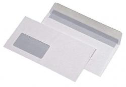 Briefumschläge DIN lang (220x110 mm), mit Fenster, haftklebend, 80 g/qm, 1.000 Stück