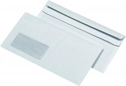 Kompaktumschläge mit Fenster (229x125 mm), selbstklebend, 75 g/qm, 1.000 Stück