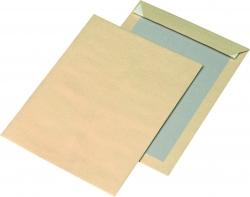 Papprückwandtaschen Recycling - B4, ohne Fenster, 130 g/qm, braun, 125 Stück