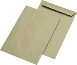 Versandtaschen Recycling - B4, ohne Fenster, gummiert, 110 g/qm, braun, 250 Stück