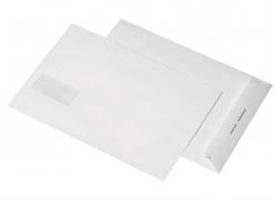 Versandtaschen B4, mit Adressfenster 45x90 mm, haftklebend, 120 g/qm, weiß, 250 Stück