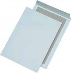 Papprückwandtaschen B4, ohne Fenster, 120 g/qm, weiß, 125 Stück