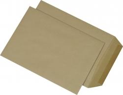 Versandtaschen B5 , ohne Fenster, gummiert, 90 g/qm, braun, 500 Stück