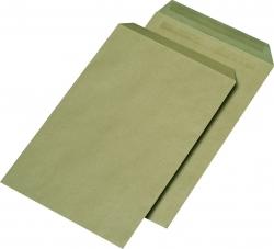 Versandtaschen Recycling - C4 , ohne Fenster, selbstklebend, 90 g/qm, braun, 250 Stück