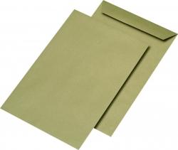 Versandtaschen Recycling - C4 , ohne Fenster, gummiert, 90 g/qm, braun, 250 Stück