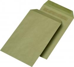 Versandtaschen Recycling - C5, ohne Fenster, selbstklebend, 90 g/qm, braun, 500 Stück