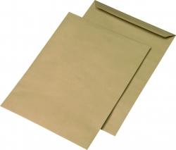 Versandtaschen Recycling - E4, ohne Fenster, gummiert, 130 g/qm, braun, 250 Stück