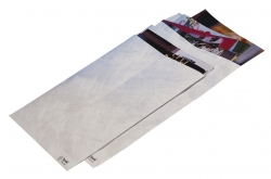 Versandtaschen aus Tyvek® C4, mit Fenster, 54 g/qm, weiß, 100 Stück