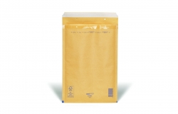 Luftpolstertaschen Nr. 6, 220x340 mm, goldgelb/braun, 100 Stück