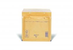 Luftpolstertaschen CD, 180x165 mm, goldgelb/braun, 100 Stück