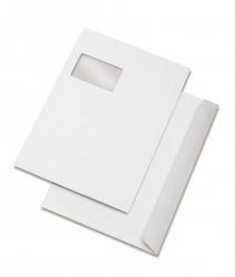 Versandtaschen C4, mit Fenster, haftklebend, 100 g/qm, weiß, 500 Stück