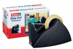 Tischabroller für Klebefilm tesa Easy Cut®, 66 m x 25 mm, schwarz Abroller