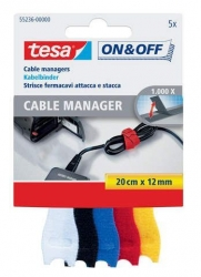 On & Off Cable Manager - 12 mm x 20 cm, 5 Stück sortiert, small