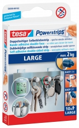 Powerstrips® Large - ablösbar, Tragfähigkeit 2 kg, weiß, 14 Stück