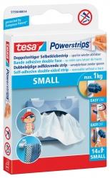 Powerstrips® Small - ablösbar, Tragfähigkeit 1 kg, weiß, 10 Stück