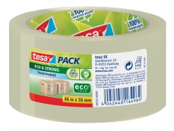 Verpackungsklebeband tesapack® Eco & Strong, PP, 66 m x 50 mm, transparent