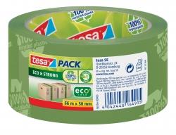 Verpackungsklebeband tesapack® Eco & Strong, PP, 66 m x 50 mm, grün
