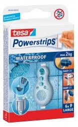 Powerstrips® Waterproof - ablösbar, Tragfähigkeit 2 kg, weiß