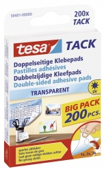 Klebestück Tack® - wieder ablösbar, 10 x 10 mm, transparent, 200 Stück