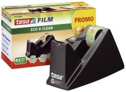 Tischabroller ecoLogo®, gefüllt - inklusive 1 Rolle Eco & Clear, schwarz