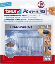 Powerstrips® Deco-Haken XL - ablösbar, Tragfähigkeit 1 kg, transparent