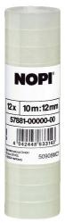 Klebefilm NOPI® transparent, PP, unsichtbar, Bandgröße (L x B): 10 m x 12 mm