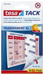 Klebestrips Tack - 36 Pads XL, ablösbar, transparent