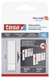 Powerstrips® Klebestreifen - ablösbar, Tragfähigkeit 1 kg, weiß, 6 Stück