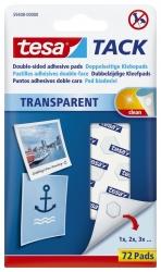 Klebestrips Tack - 72 Pads, ablösbar, transparent