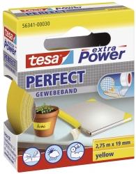 Gewebeklebeband extra Power Gewebeband, 2,75 m x 19 mm, gelb