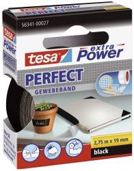 Gewebeklebeband extra Power Gewebeband, 2,75 m x 19 mm, schwarz