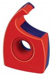 Handabroller für Klebefilm - tesa Easy Cut ®, 33 m x 19 mm, rot/blau