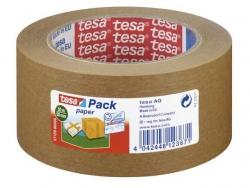 Verpackungsklebeband tesapack® Paper EcoLogo, Papier, 50 m x 50 mm, braun