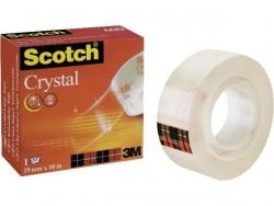 Klebeband Crystal Clear 600, Zellulose Acetat, Bandgröße (L x B): 10 m x 19 mm