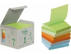 Recycling Z-Notes - 76 x 76 mm, pastellfarben (sortiert)