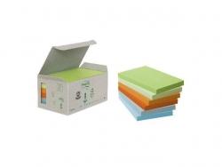Recycling Notes, Rainbow pastell - 126 x 76 mm, 6 x 100 Blatt