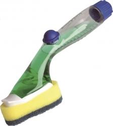 Click & Clean Spülschrubber - mit auwechselbare Reinigungskopf,