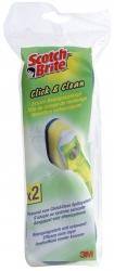 Click & Clean Spülschrubber - Ersatz-Reinigungskopf, Pack mit 2 Stück