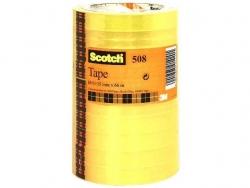 Klebeband Transparent 508, PP, Bandgröße (L x B): 66 m x 15 mm, 10 Rollen