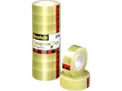 Klebeband Transparent 550, Polypropylenfolie, Bandgröße 33 m x 19 mm, 8 Rollen