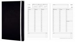 Wochenkalender - A5, Softcover, schwarz, 1 Woche / 2 Seiten