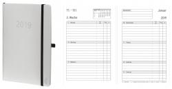 Wochenkalender - Mini, Softcover, weiß, 1 Woche / 2 Seiten