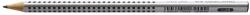 Bleistift GRIP 2001, 2B, Schaftfarbe: silbergrau