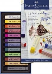 Creative Studio Softpastellkreide - 12 Farben sortiert im Kartonetui