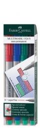 CD-Marker MULTIMARK, wasserlöslich, Strichstärke: ca. 0,4 mm, 4 Farben, Etui