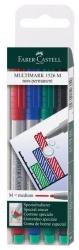 CD-Marker MULTIMARK, wasserlöslich, Strichstärke: ca. 1 mm, 4 Farben, Etui