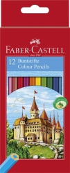 Farbstifte CASTLE, 12 Farben sortiert im Kartonetui