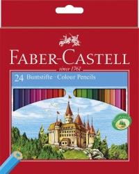 Farbstifte CASTLE, 24 Farben sortiert im Kartonetui