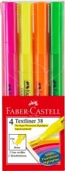 Textmarker 38 Stiftform - 4 Farben im Etui